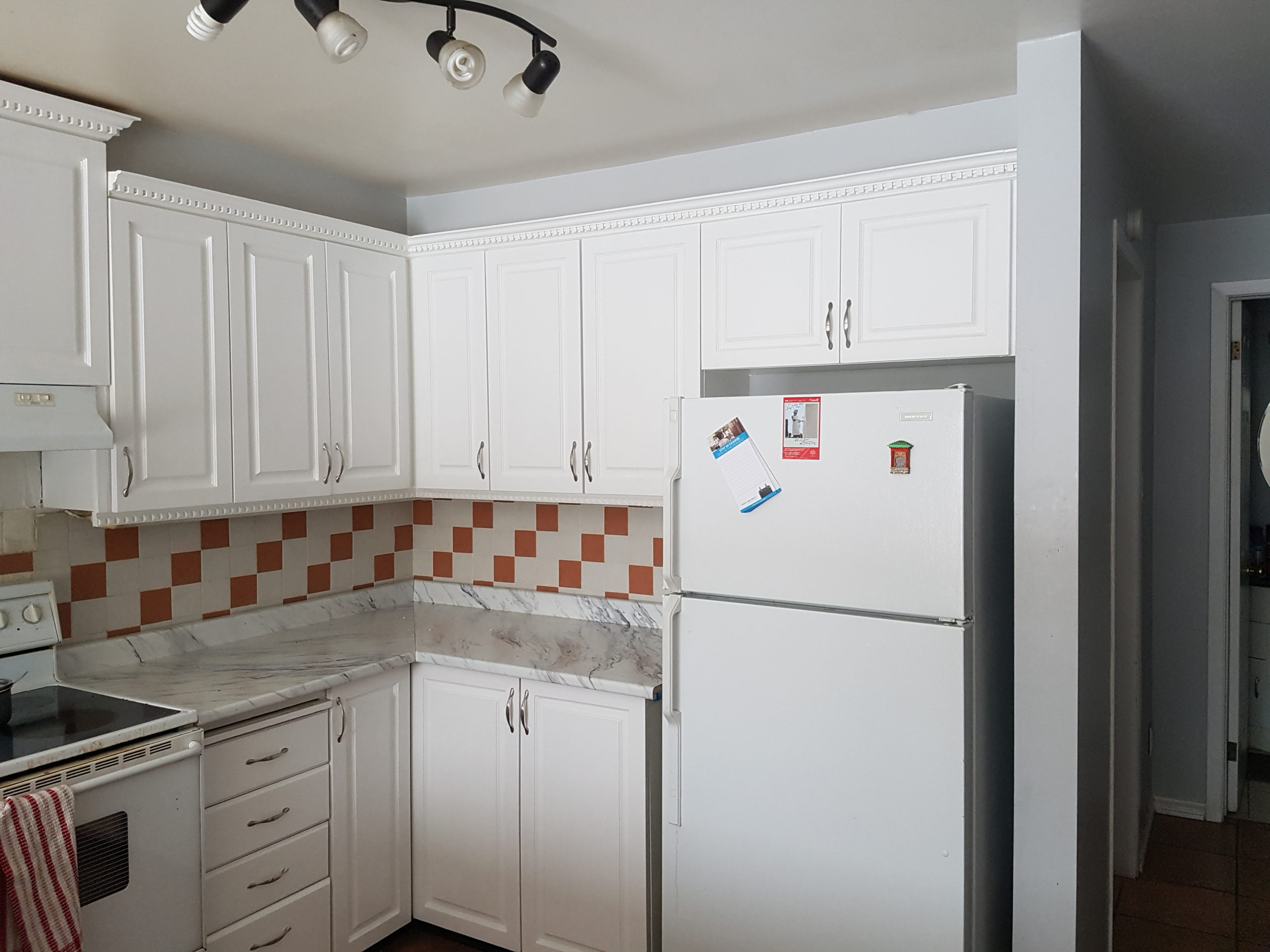 Changed counter and painted Cabinets